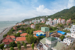 View of the city. Panorama view of the Vung Tau City in Vietnam Royalty Free Stock Images