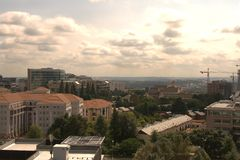 View of a city. View of the city of Johannesburg before sunset Royalty Free Stock Image