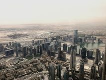 View of the city from above - Dubai. stock photography