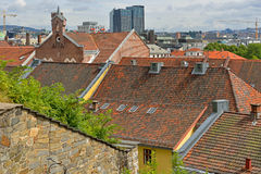 View of city from above. Roofs of Oslo Stock Photos