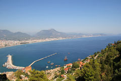 View of the city of Alanya Stock Image