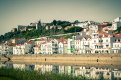 View of city Alcacer do Sal near the river Sado in Portugal Royalty Free Stock Images