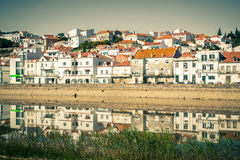 View of city Alcacer do Sal near the river Sado in Portugal Stock Image