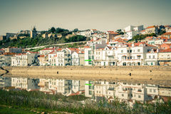 View of city Alcacer do Sal near the river Sado in Portugal Royalty Free Stock Photo