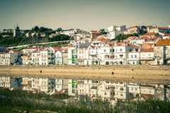 View of city Alcacer do Sal near the river Sado in Portugal Stock Photo