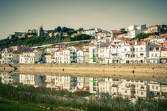 View of city Alcacer do Sal near the river Sado in Portugal Royalty Free Stock Image