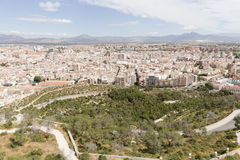 View of the city of Alicante in Spain. Royalty Free Stock Photography