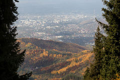 View of the city of Almaty Royalty Free Stock Image