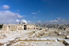 View of the city of Amman with Citadel Museum. Panoramic view of the city of Amman with Citadel Museum, Jordan Stock Photography