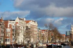 A view of the city of Amsterdam, Europe  Stock Photography