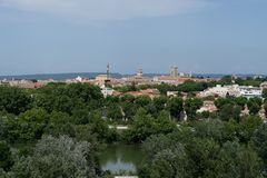 View of the city of Arles in provence stock photo