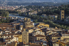 View of the city and the Arno River Royalty Free Stock Images