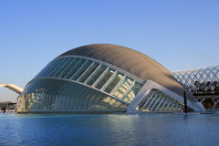 View  the City of Arts and Sciences. In Valencia, Spain Royalty Free Stock Photo