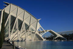 View  the City of Arts and Sciences. In Valencia, Spain Stock Photography