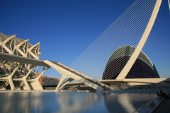View  the City of Arts and Sciences. In Valencia, Spain Stock Photos