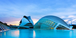 View of City of Arts and Sciences Stock Photography