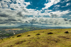 View of the city from Artur's Seat mountain royalty free stock image