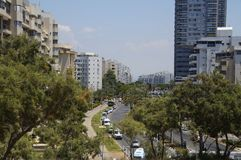 View of the city Ashdod, Israel from the park Park Ashdod-Yam. Photo of a view of the city Ashdod, Israel from the park Park Ashdod-Yam, summer royalty free stock photos