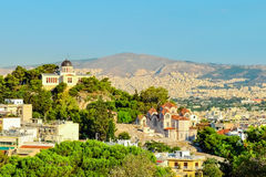 Athens. View of the city of Athens aerial view Royalty Free Stock Photos