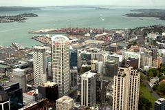 View of the city of Auckland royalty free stock images