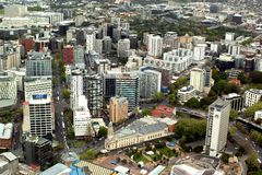 View of the city of Auckland stock image