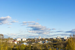 View of city in autumn Stock Photos