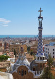 View of the city of Barcelona from a height Royalty Free Stock Photo