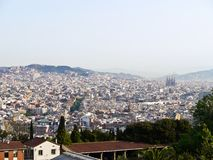 View of the City of Barcelona , Spain Stock Photos