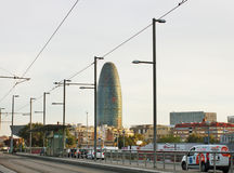 View of the city of Barcelona. Royalty Free Stock Image