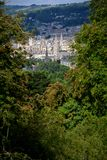 View of the City of Bath through vegetation Stock Images