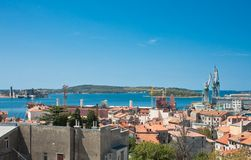 View of the city and the bay. Pula. Croatia Stock Photography
