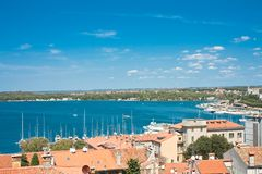 View of the city and the bay. Pula. Croatia Royalty Free Stock Photography