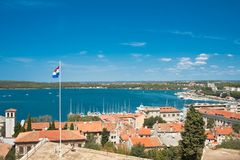 View of the city and the bay. Pula. Croatia Royalty Free Stock Photo
