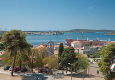 View of the city and the bayl. Pula. Croatia Stock Image
