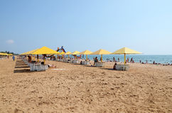 View on the city beach in Kerch Stock Photos