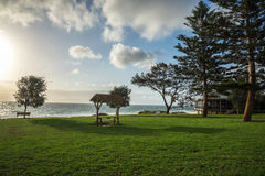 A view of City beach picnic grass area in Perth Stock Images