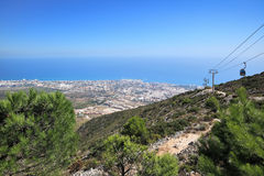 View of city and Mediterranean coastline, Benalmadena - Spain Stock Photos