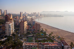 View from the city of Benidorm Stock Photos