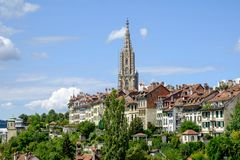 View of the city Bern. In Swiss stock photo