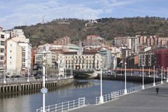 View of the city of Bilbao and its activity in the Stock Photo
