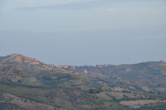 View of the city of Bivona, Sicily Royalty Free Stock Photo