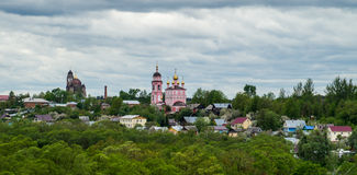 View of the city of Borovsk in the Kaluga region (Russia). Royalty Free Stock Images