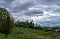 View of the city of Borovsk in the Kaluga region (Russia). Royalty Free Stock Photo