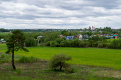 View of the city of Borovsk in the Kaluga region (Russia). Stock Photography