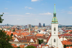 View of the city of Bratislava Royalty Free Stock Photo