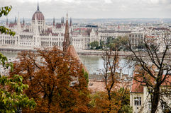 View of the city of Budapest in autumn Royalty Free Stock Photography