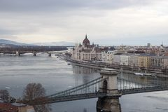 View of the city. Budapest Hungary stock photo