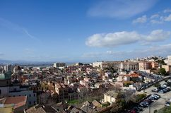 View of the city of Cagliari, Sardinia, Italy Royalty Free Stock Photography