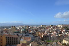 View of the city of Cagliari, Sardinia, Italy Royalty Free Stock Images
