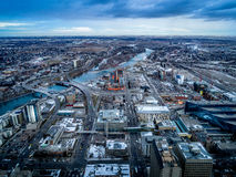 View of the city of Calgary Stock Images